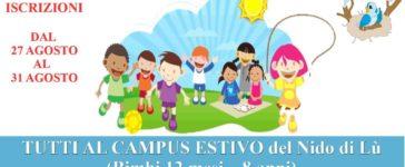 Tutti al campus estivo del Nido di Lu'