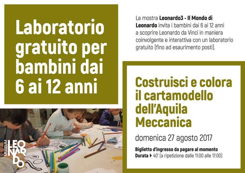 Laboratori Per Bambini Gratuiti Al Leonardo3 Museum