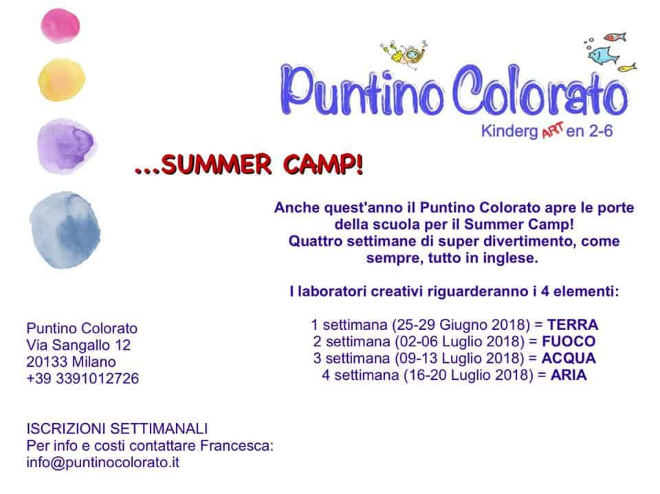 Summer Camp in Inglese Puntino Colorato 2