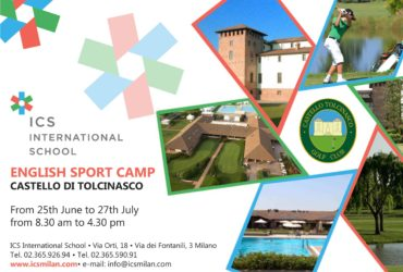 "Full Immersion in inglese per il Summer Camp ""English Sports Camp"""