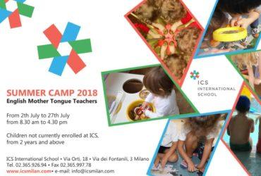 Full Immersion in inglese per il Summer Camp di ICS International School